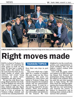 Tauhara College - Right Moves Made