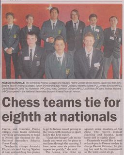 Chess Teams Tie for Eighth at Nationals