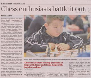 Chess enthusiasts battle it out