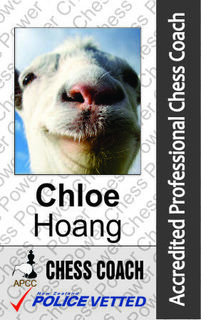 Chloe Hoang - Chess Coach and Arbiter