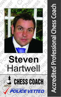 Steven Hartwell - Chess Coach and Arbiter