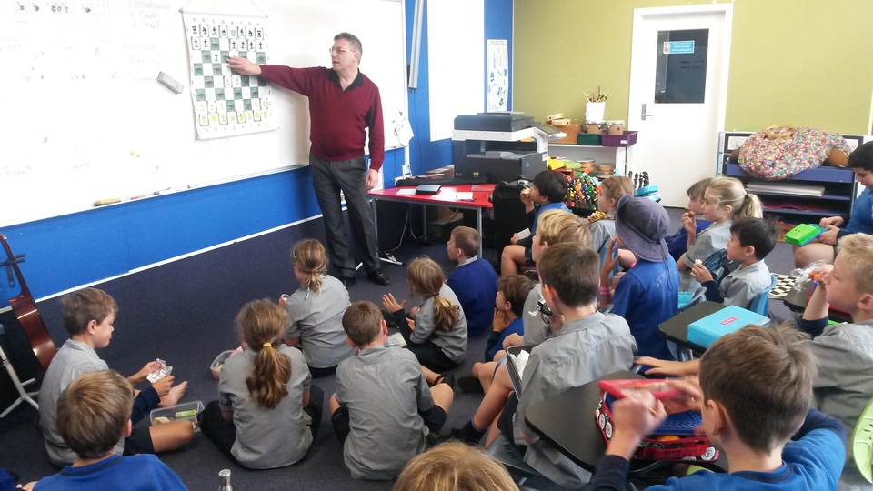 Chess coaching in progress