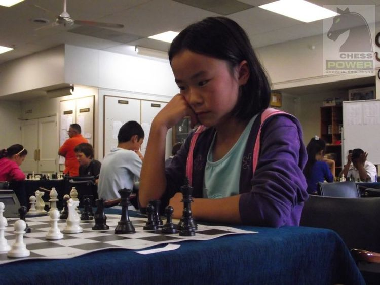 Ally Tang (3rd Place Under 10) contemplates her winning strategy