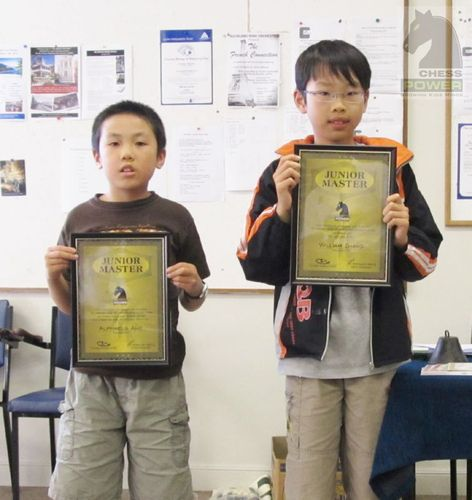 Alphaeus Ang and William Zhang win Chess Power Junior Master™ titles