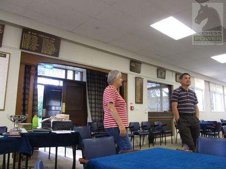 Marilyn Rowan and Keong Ang reflecting on the afternoons' proceedings