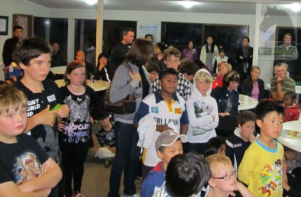 Participants awaiting prizes