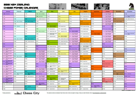 2018 NZ Chess Power Calendar