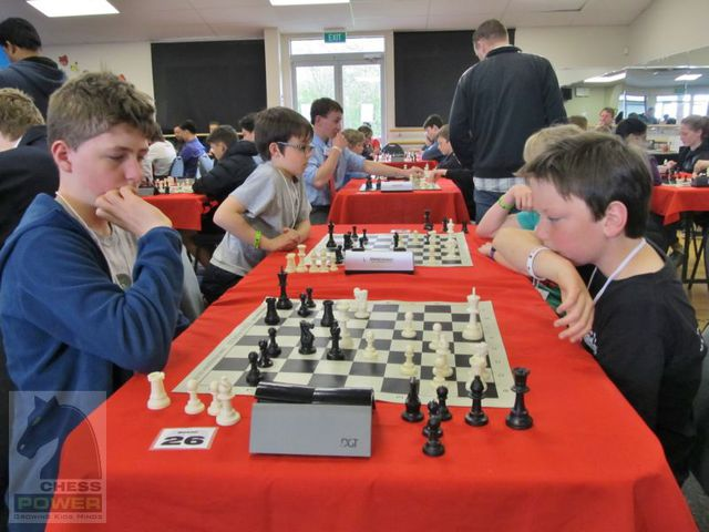 Tense moments in Liam Hasse vs Oscar Sheppard-Morrison. The game ended in a draw