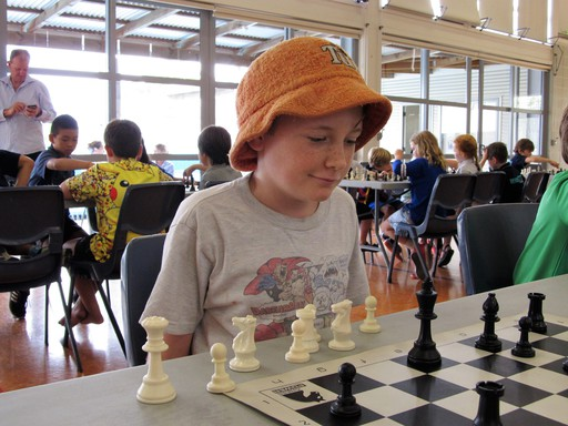 Student enjoying Chess Power cluster tournament