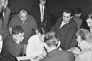 Petrosian at the 1961 European Chess Team